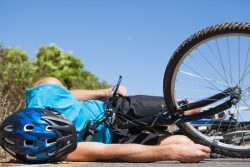 bicyclist after a car accident