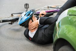 bicyclist After Car Accident
